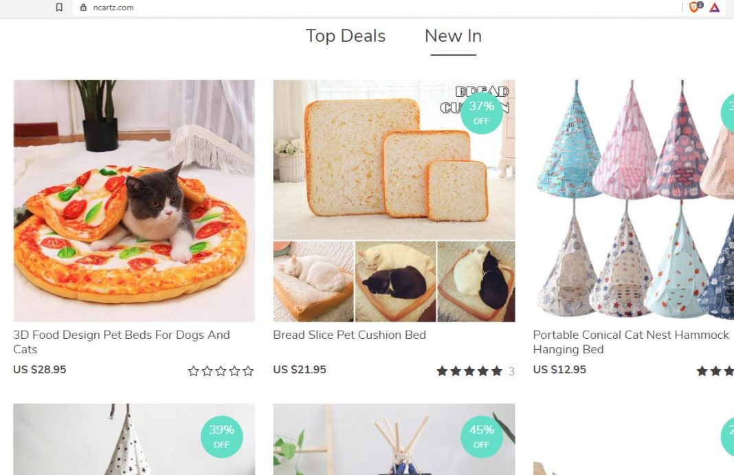 Rich results on google SERP when searching for 'pet accessories'